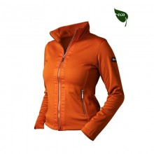 Equestrian Stockholm Brick Orange Fleece Jacket